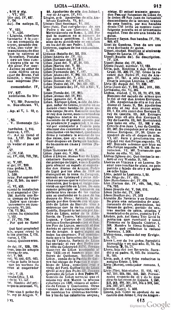 Libro Las glorias nacionales, tomo VI, página 913 [4].