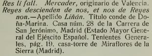 Lema del apellido Liñán