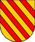 Escudo del apellido Liñán: En campo de oro, cuatro bandas de gules